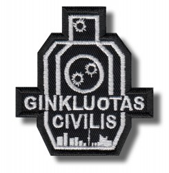 ginkluotas-civilis-embroidered-patch-antsiuvas