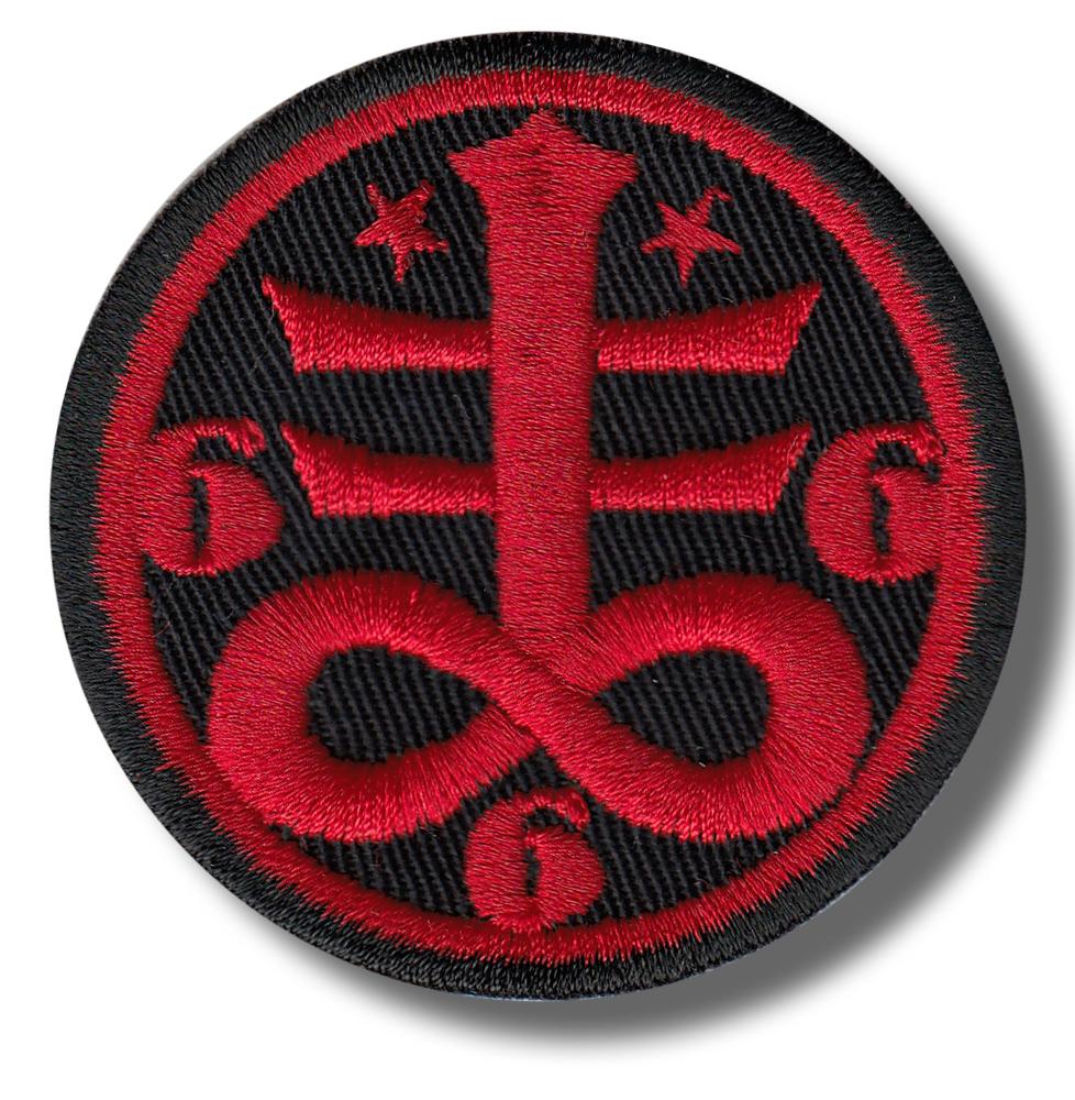 Baphomet Pentagram Pentacle Patch fer sur Satan badge Sew Heavy Rock 666 symbole