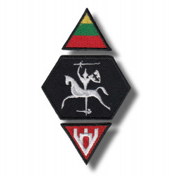 7 X 8 cm embroidered patch Vytis