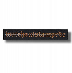watch-out-stampede-embroidered-patch-antsiuvas
