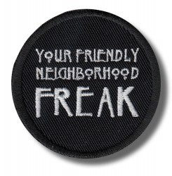 your-friendly-freak-embroidered-patch-antsiuvas